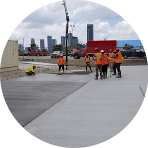 Concrete paving concrete
